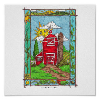 Sunrise On the Farm Print