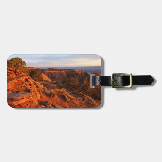 Sunrise on the Grand View Trail at CO Monument Luggage Tag
