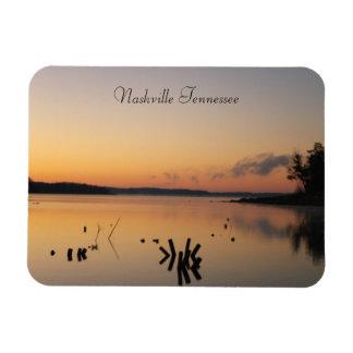 Sunrise on the Lake Rectangular Photo Magnet
