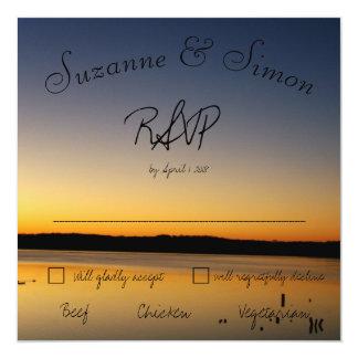 Sunrise on the Lake RSVP Card