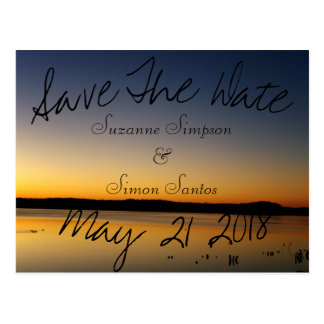 Sunrise on the Lake Save The Date Postcard
