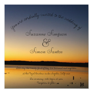 Sunrise on the Lake Wedding Card