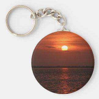 Sunrise on the Mosquito Lagoon Basic Round Button Keychain