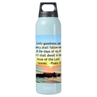 SUNRISE ON THE OCEAN 23RD PSALM PHOTO INSULATED WATER BOTTLE