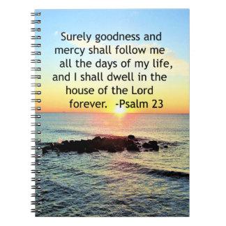 SUNRISE ON THE OCEAN 23RD PSALM PHOTO NOTEBOOK