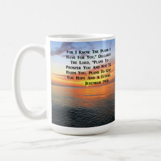 SUNRISE ON THE OCEAN PHILIPPIANS 4:13 SCRIPTURE COFFEE MUG