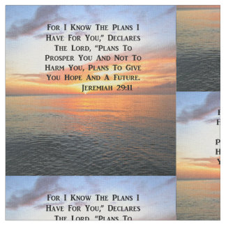 SUNRISE ON THE OCEAN PHILIPPIANS 4:13 SCRIPTURE FABRIC