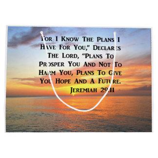 SUNRISE ON THE OCEAN PHILIPPIANS 4:13 SCRIPTURE LARGE GIFT BAG