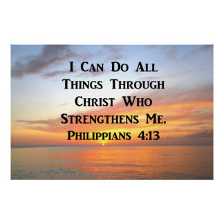 SUNRISE ON THE OCEANS PHILIPPIANS 4:13 SCRIPTURE POSTER
