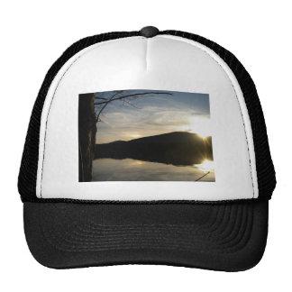 sunrise on white lake trucker hat