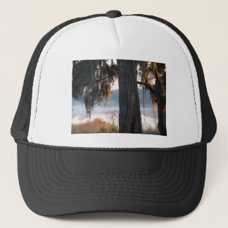 Sunrise over a small lake in the South Trucker Hat