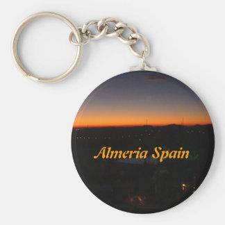 Sunrise over Almeria Spain Keychains