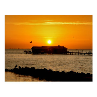 Sunrise over Anna Maria City Pier Postcard