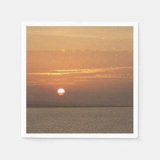 Sunrise over Aruba I Caribbean Seascape Disposable Napkins