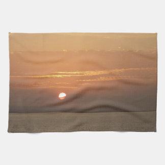 Sunrise over Aruba I Caribbean Seascape Kitchen Towel