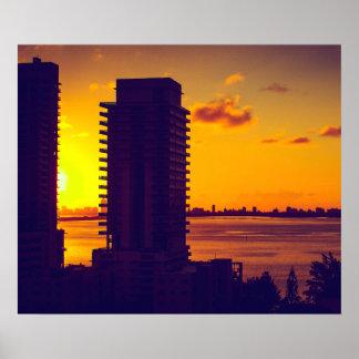 Sunrise over Biscayne Bay - 24'' x 20'' Poster