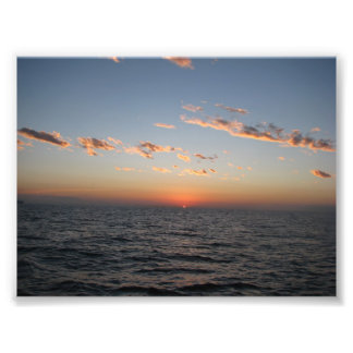 Sunrise over Catalina Channel Photo Print