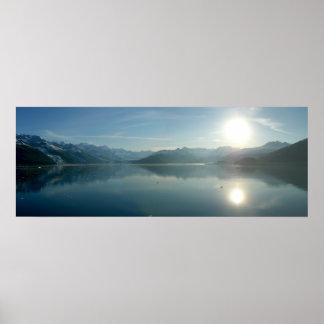 Sunrise over College Fjord Alaska Photography Poster