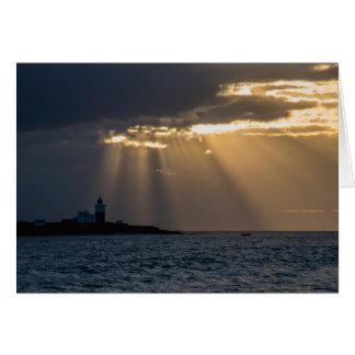 Sunrise over Coquet Island Greeting Card