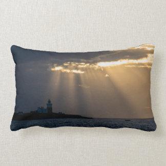 Sunrise over Coquet Island Pillow/Cushion Lumbar Pillow