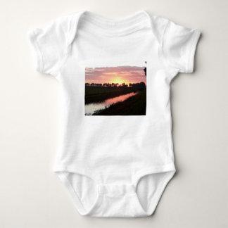 Sunrise Over Farmland Baby Bodysuit