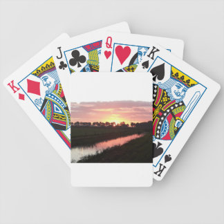 Sunrise Over Farmland Bicycle Playing Cards