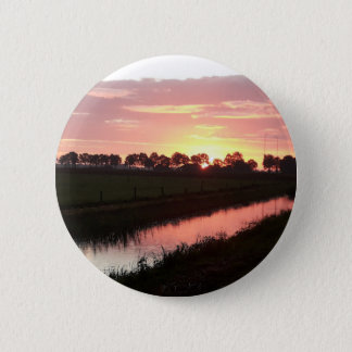 Sunrise Over Farmland Button