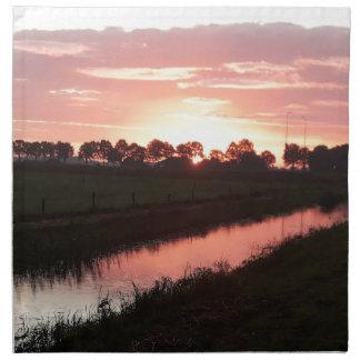 Sunrise Over Farmland Napkin