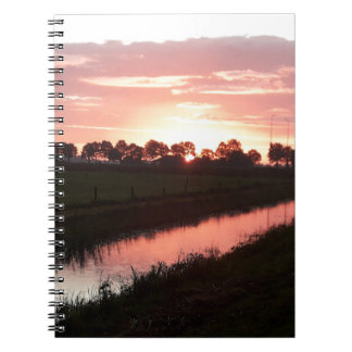 Sunrise Over Farmland Notebook
