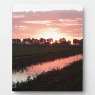 Sunrise Over Farmland Plaque