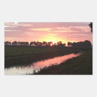 Sunrise Over Farmland Sticker