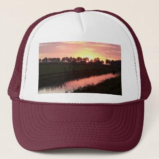 Sunrise Over Farmland Trucker Hat