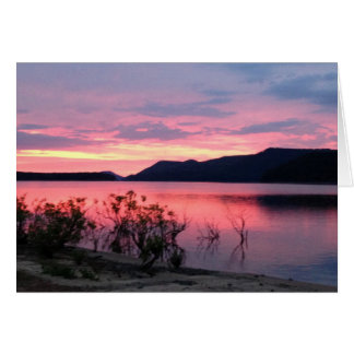 Sunrise over Greer's Ferry Lake BlankGreeting Card