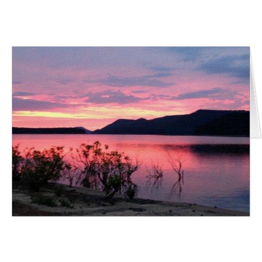 Sunrise over Greer's Ferry Lake BlankGreeting Card