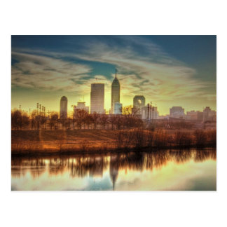 Sunrise over Indianapolis, IN Postcard