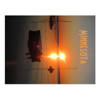 Sunrise Over Leech Lake Postcard