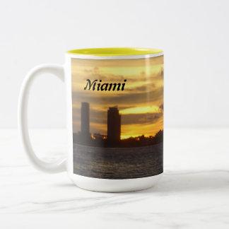 Sunrise Over Miami Two-Tone Coffee Mug