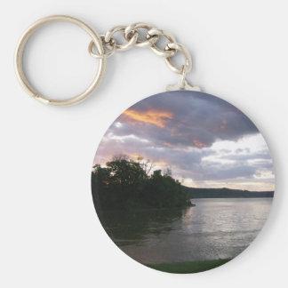 Sunrise Over Ohio Basic Round Button Keychain