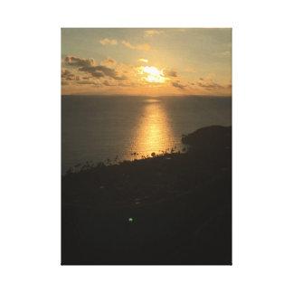 Sunrise Over Pacific Ocean- Kailua Hawaii Sunrise Canvas Print
