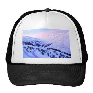 Sunrise over Snowy Mountains Hat