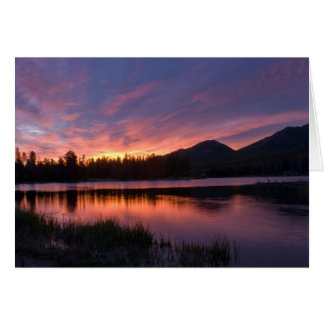Sunrise over Sprague Lake, Colorado Card