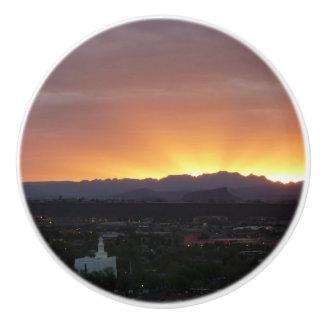 Sunrise over St. George Utah Landscape Ceramic Knob