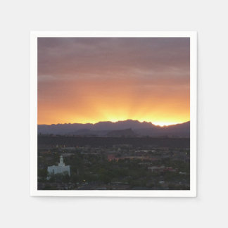 Sunrise over St. George Utah Landscape Paper Napkins