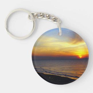 Sunrise over the Atlantic Single-Sided Round Acrylic Keychain
