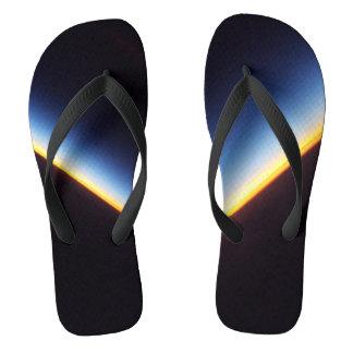 Sunrise Over the Horizon Flip Flops