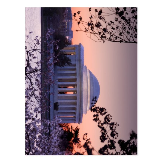 Sunrise over the Jefferson Memorial in DC Postcard