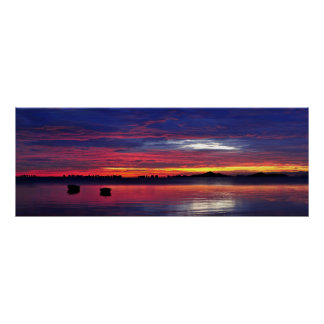 Sunrise Over The Lagoon Poster