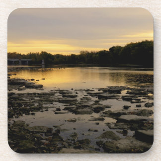Sunrise over the Maumme river Drink Coaster