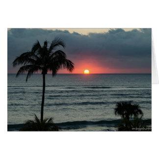 Sunrise over the Ocean Card