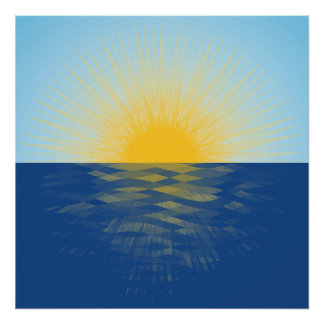 Sunrise over the Ocean New Beginnings Poster